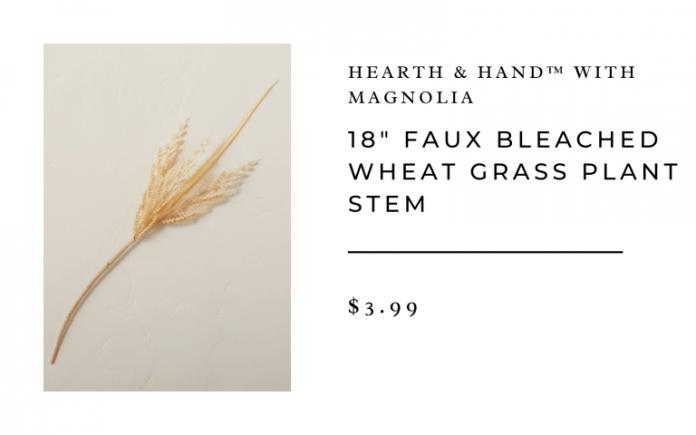 faux grass branch