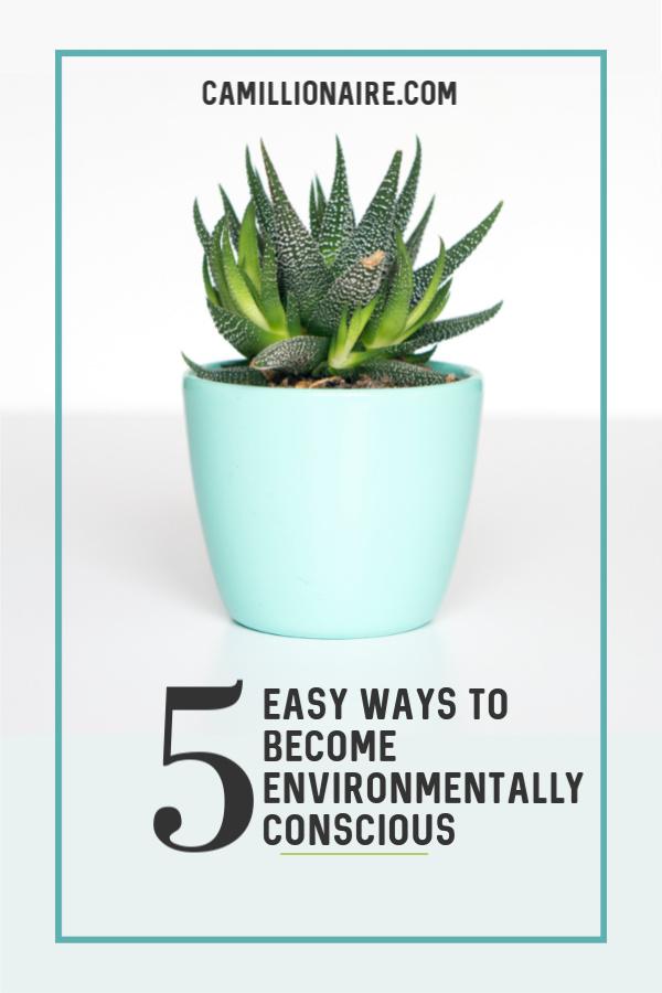 5 Easy Ways To Become Environmentally Conscious