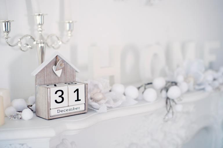 Wooden block calendar with the date 31 December