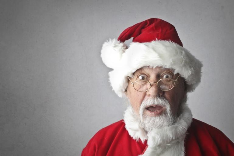 Funny Santa at Christmas
