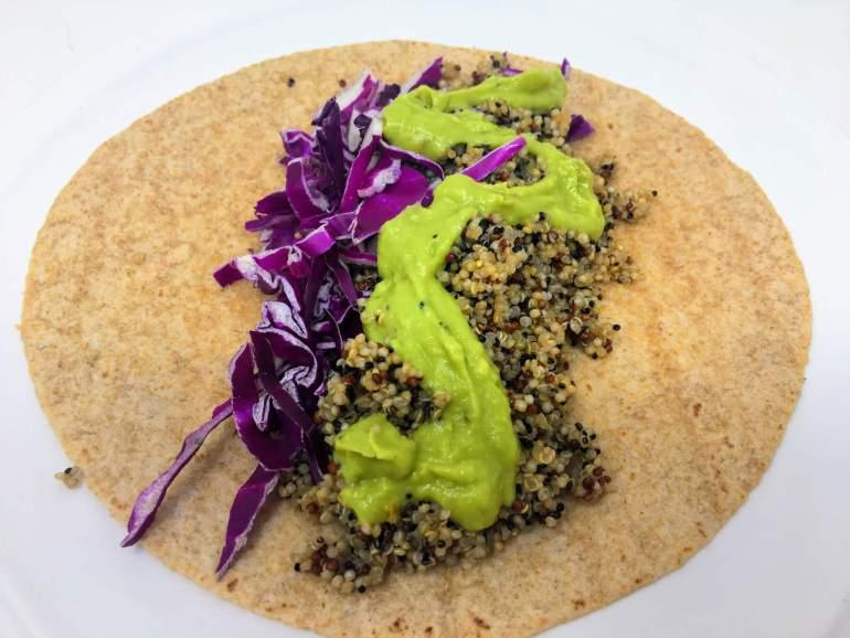 Plant based quinoa taco