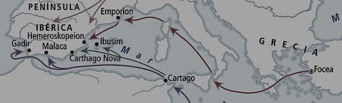 Ruta de los foceos para llegar a Ampurias