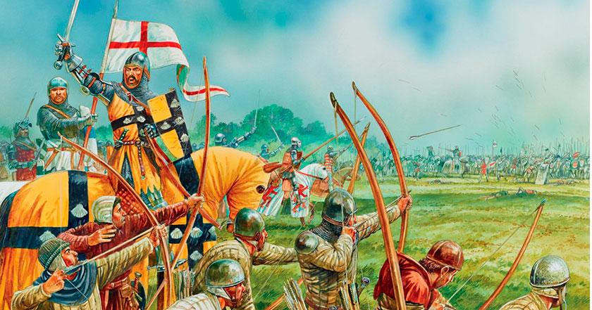 La guerra de los cien años (1337-1453) en seis minutos.