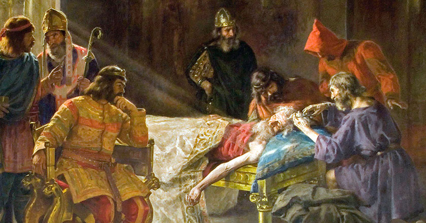 Wamba el rey visigodo que raparon para quitarle un reino.
