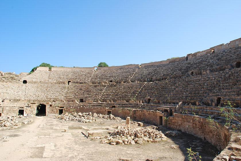 Anfiteatro romano de Leptis Magna