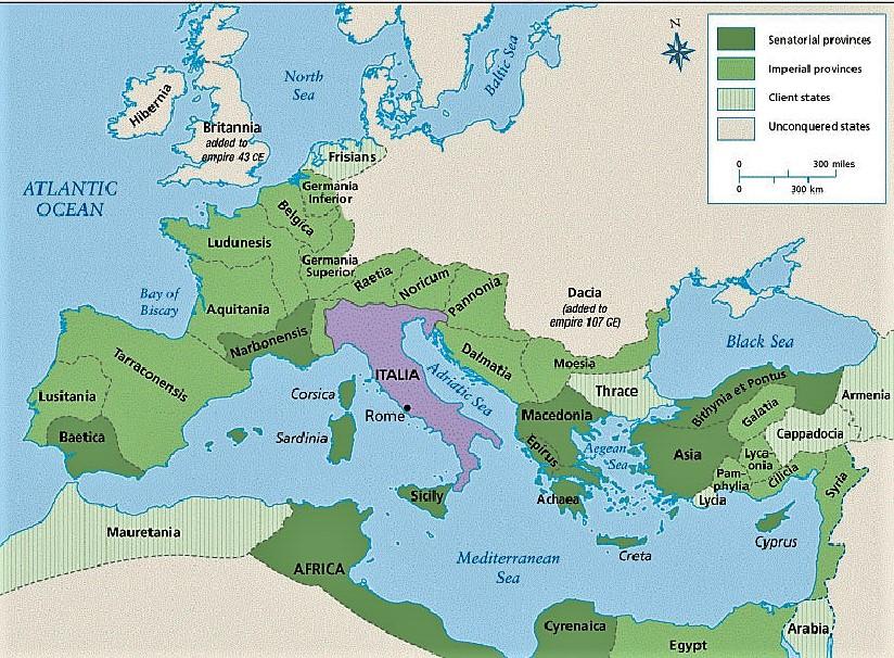 El imperio previo a la conquista de la Dacia