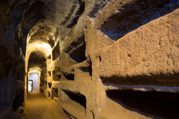 Catacumbas de San Calixto junto a la Vía Apia