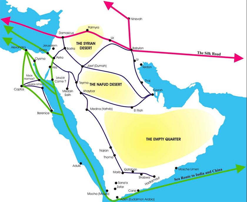 Principales rutas caravaneras del Próximo Oriente