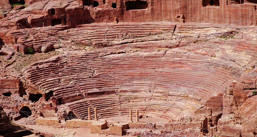 Teatro romano de Petra.