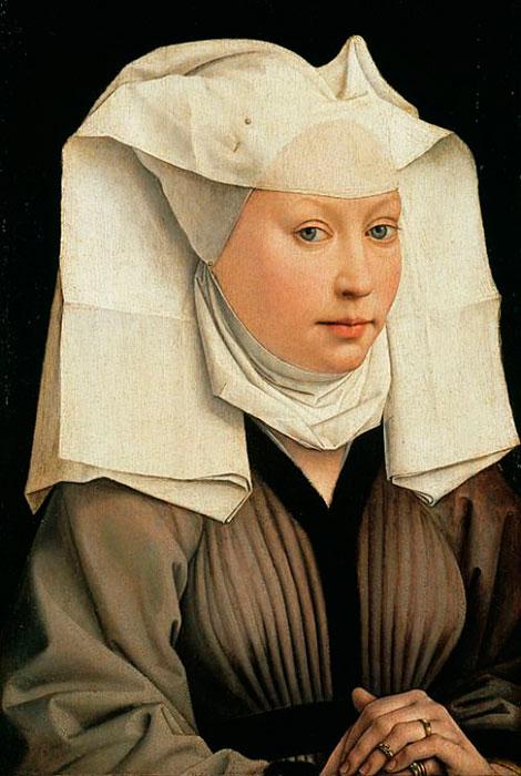 Retrato de una beguina realizado por el pintor flamenco Robert Campin en el siglo XV.