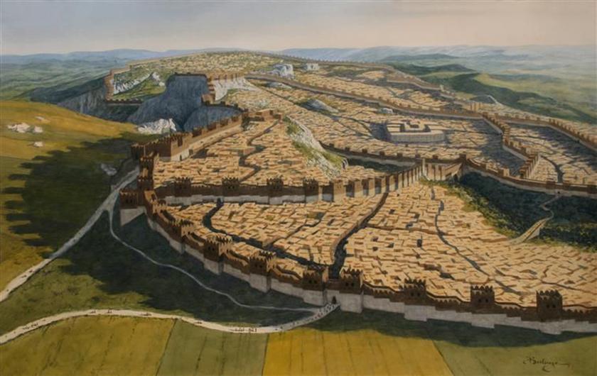 Recreación de la ciudad de Hatussas