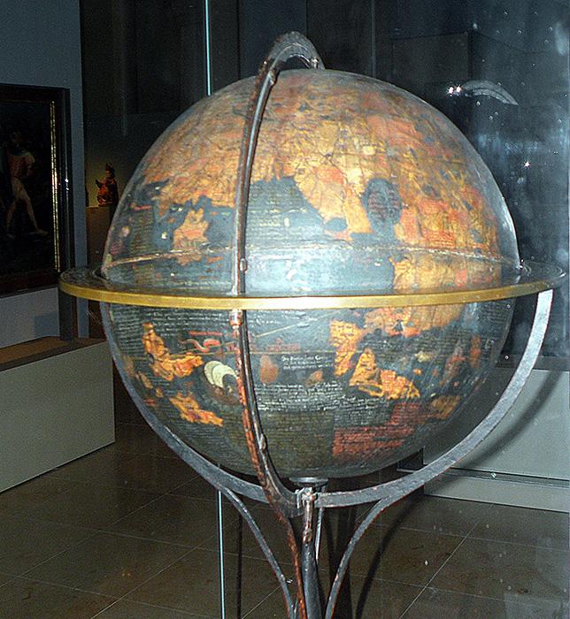 El Erdapfel expuesto en el Museo Germano de Núremberg