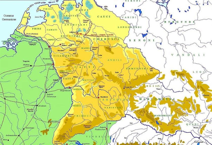 La Germanía Ulterior que conquistaron Druso y su hijo Germánico