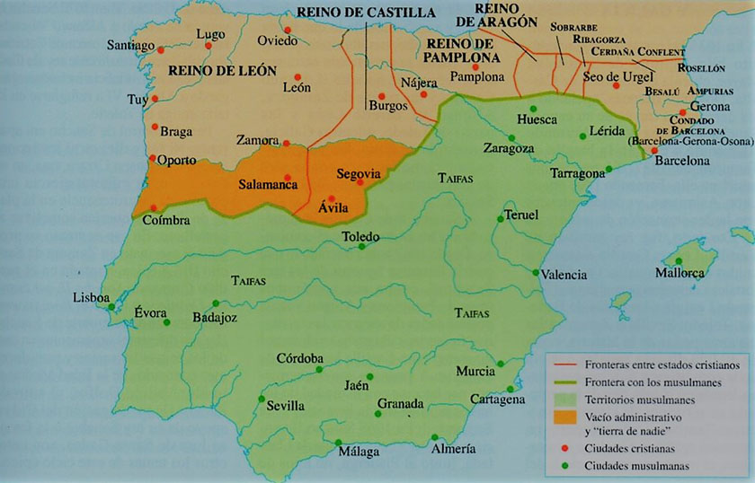 La Península Ibérica en 1035