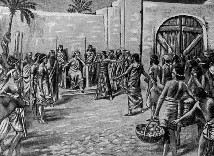 Recreación de un juicio ante Hammurabi