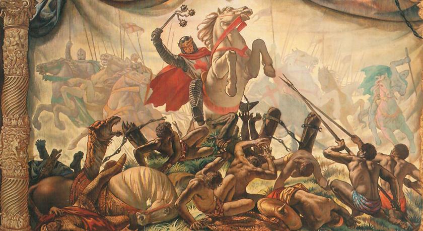 Sancho VII de Navarra rompiendo las cadenas de la guardia de Miramamolín.