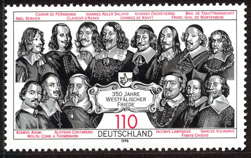 Sello conmemorativo de la Paz de Westfalia