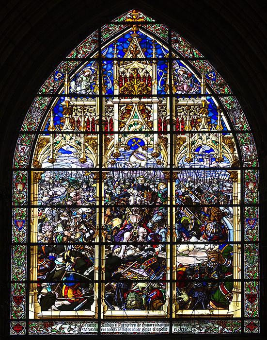 La Batalla de Las Navas de Tolosa en la vidriera de Roncesvalles