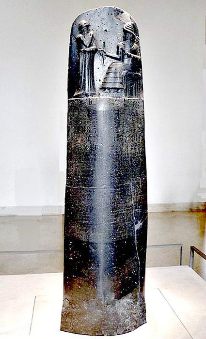 La estela en el Museo del Louvre