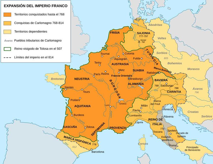 Expansión del Imperio Carolingio