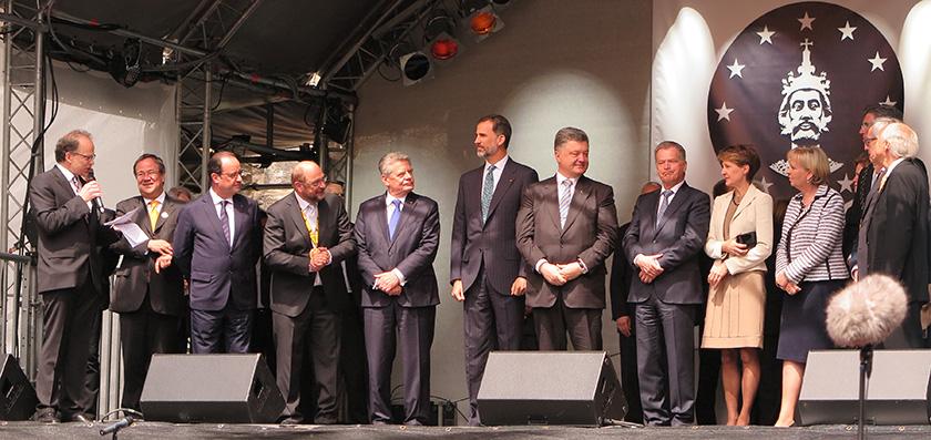 Entrega del Premio Carlomagno en 2015