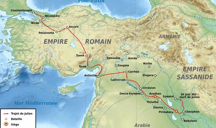 La campaña persa de Juliano el apostata.