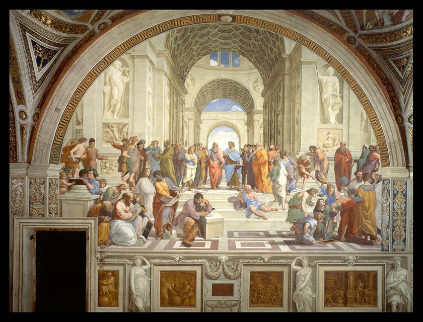 La Escuela de Atenas, según Rafael (1510)