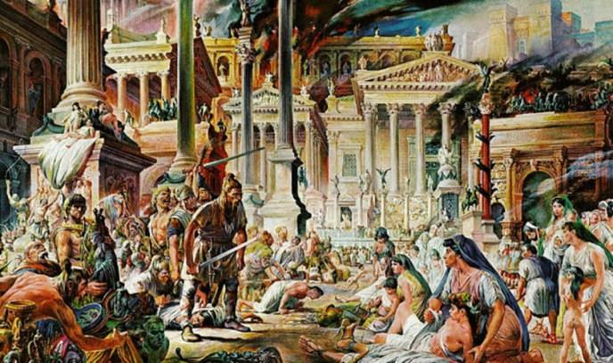 Alarico y el saqueo de Roma.