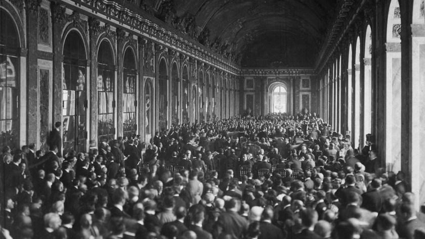 La firma del Tratado de Versalles en la Galería de los Espejos