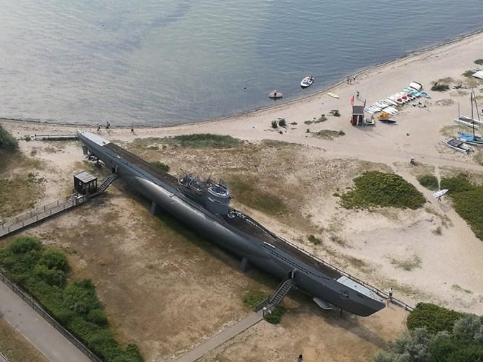 El U995 desde el Memorial Naval