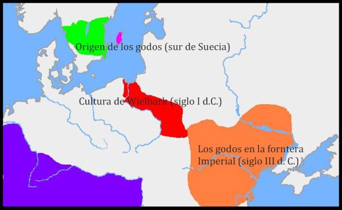 El camino de los visigodos hasta su encuentro con el Imperio