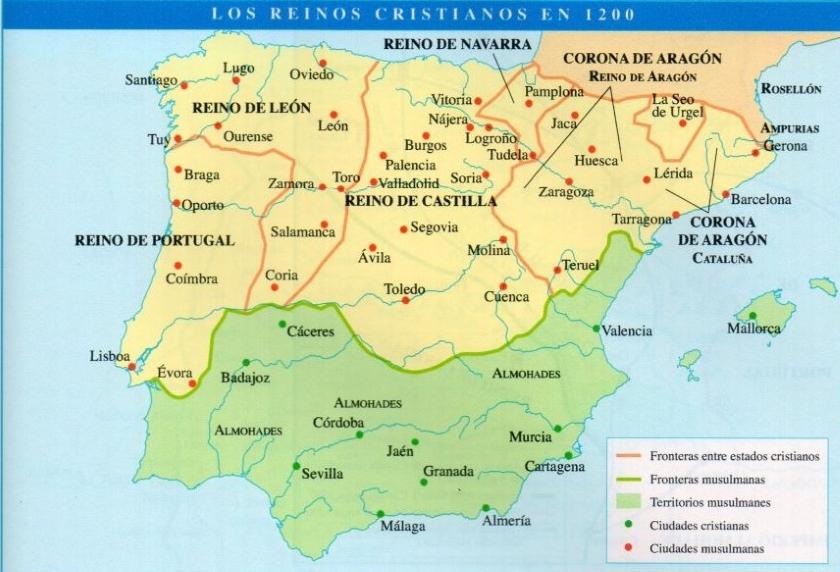 La Península antes de Las Navas de Tolosa