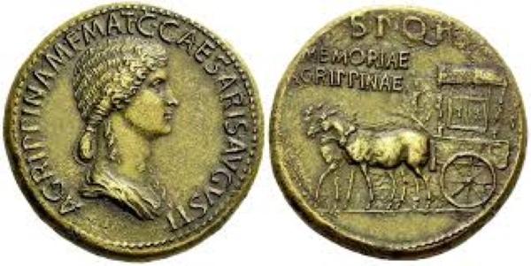 Moneda de Agripina