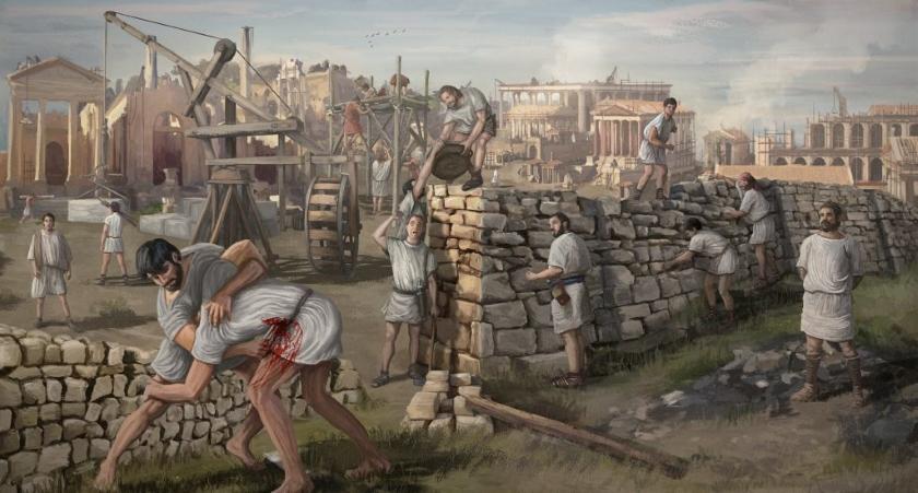 Una escena significativa, que refleja la impunidad del asesinato en al antigua Roma.
