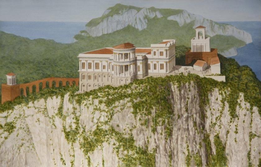 Recreación del Palacio de Tiberio en Capri.