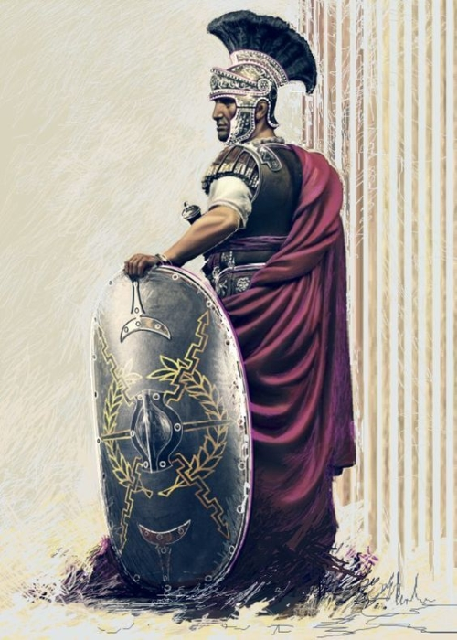 La guardia Pretoriana de Roma.