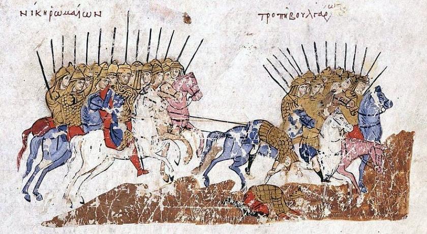 La guardia Varega, grabado bizantino.