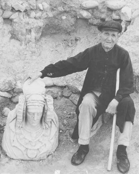 Manuel Campello, descubridor de la Dama de Elche, años después.