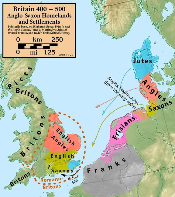 Invasión germana de Britania