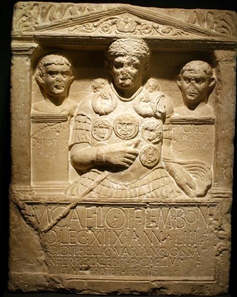 Cenotafio del centurión Marco Celio, unos de los 15.000 soldados perdidos por Varo en Germania.
