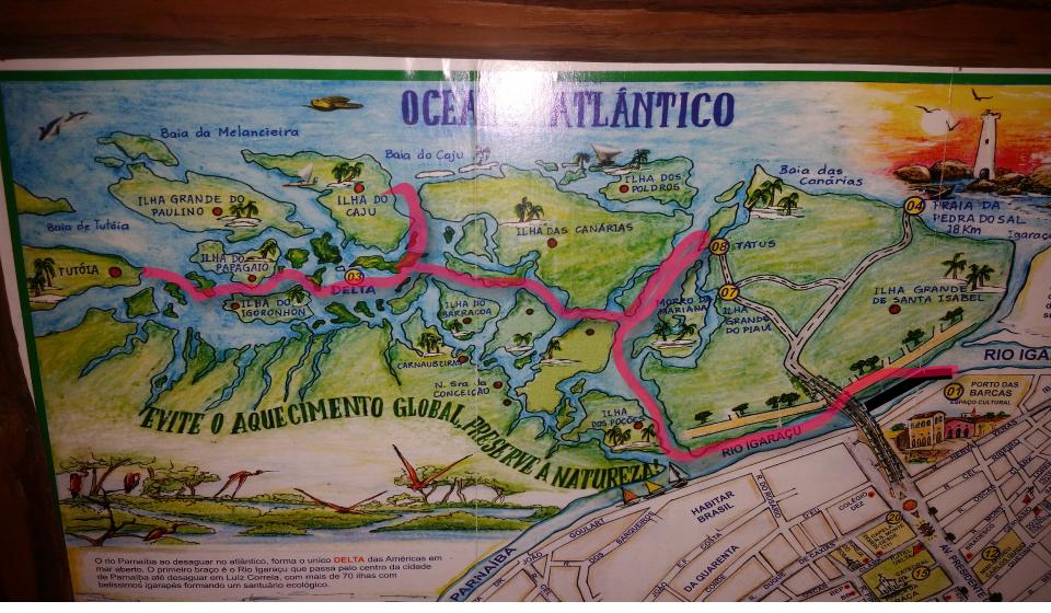 rota das emocoes mapa delta - Rota das emoções no Nordeste por Eduardo Martins.