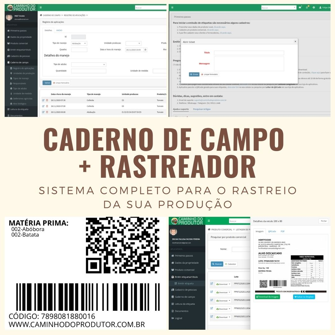 Caderno De Campo + Rastreador