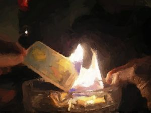 Burning Card