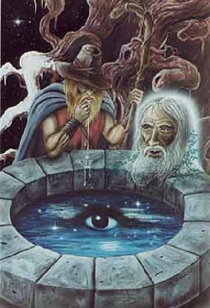 Odin olho gole poço