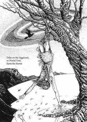 Walpurgisnacht - Odin pendurado em autossacrifício para descobrir a sabedoria revelada nas runas
