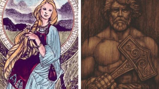 Thor e Sif: casal divino