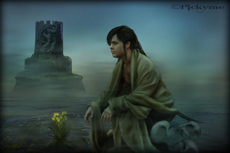 Deus Manannán mac Lir. Crédito - https://www.deviantart.com/pickyme/art/Manannan-mac-Lir-144198452