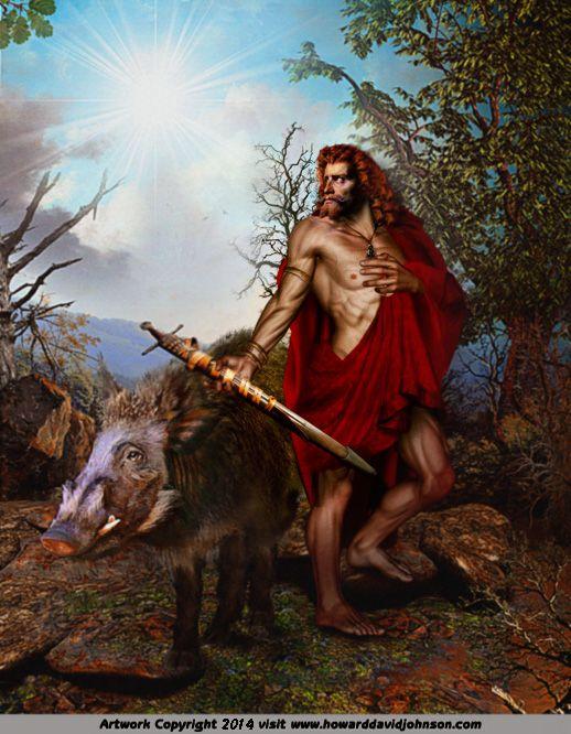 Deus Freyr. Crédito - http://www.howarddavidjohnson.com/