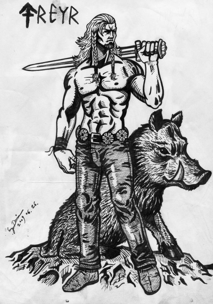 Deys Freyr. Crédito - https://www.deviantart.com/brianjones90/art/Freyr-139528745