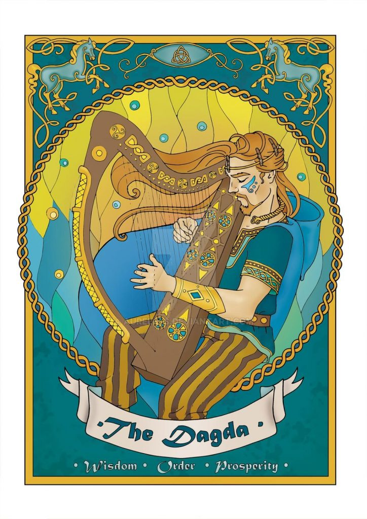 Deus Dagda. Fonte: https://www.deviantart.com/aurelie-s/art/The-Dagda-coloured-page-2017-683497697